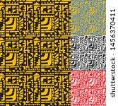 tribal seamless pattern vector... | Shutterstock .eps vector #1456370411