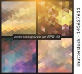 geometric patterns set.... | Shutterstock .eps vector #145637611