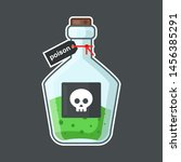 flask with poison on a black...   Shutterstock .eps vector #1456385291