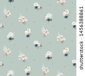 flowers vintage colors seamless ... | Shutterstock .eps vector #1456388861