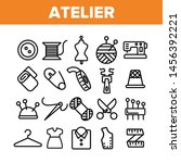 fashion atelier and sewing... | Shutterstock . vector #1456392221