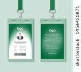 event staff abstract id card... | Shutterstock .eps vector #1456420871
