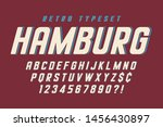 original condensed alphabet ... | Shutterstock .eps vector #1456430897