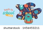back to school cute sale banner.... | Shutterstock .eps vector #1456453211