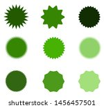 set of vector starburst ... | Shutterstock .eps vector #1456457501