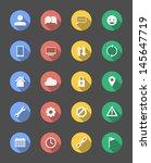 20 various stylish minimal icons | Shutterstock .eps vector #145647719