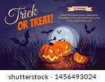 halloween illustration.... | Shutterstock .eps vector #1456493024