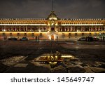 illuminated national palace in... | Shutterstock . vector #145649747
