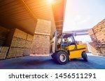 Forklift Loader Load Lumber...