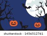 halloween vector illustration... | Shutterstock .eps vector #1456512761