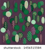 vector seamless pattern with...   Shutterstock .eps vector #1456515584