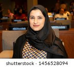 Small photo of New York, NY - July 20, 2019: Her Excellency Sarah bint Yousif Al Amiri attends NOVUS Summit SDG Moonshots at United Nations Headquarters