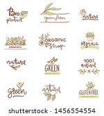 set of logos and labels with... | Shutterstock .eps vector #1456554554