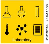 icon set laboratory with yellow ... | Shutterstock .eps vector #1456557701