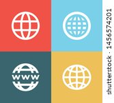 set of world wide for web... | Shutterstock .eps vector #1456574201