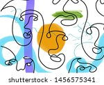 unusual composition with cubism ... | Shutterstock .eps vector #1456575341