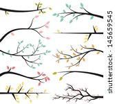 vector collection of tree... | Shutterstock .eps vector #145659545