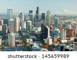 Seattle Downtown Skyline With...