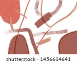 unusual abstract art with... | Shutterstock .eps vector #1456614641