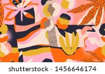 modern exotic jungle plants... | Shutterstock .eps vector #1456646174