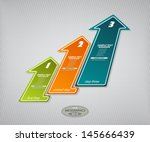 next step arrow boxes.... | Shutterstock .eps vector #145666439