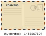 vector postcard with white... | Shutterstock .eps vector #1456667804