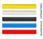 30cm measure tape ruler school... | Shutterstock .eps vector #1456667861