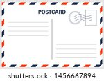 vector postcard with white... | Shutterstock .eps vector #1456667894