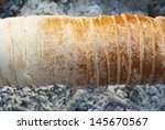 chimney stack brioche baking on ... | Shutterstock . vector #145670567