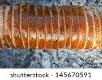 chimney stack brioche baking on ...   Shutterstock . vector #145670591