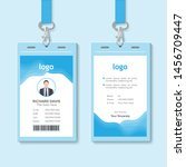 identification card vector... | Shutterstock .eps vector #1456709447