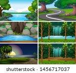 empty  blank landscape nature... | Shutterstock .eps vector #1456717037