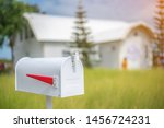 White Mailbox In Front Of House ...