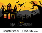 halloween backgrounds with... | Shutterstock .eps vector #1456732967