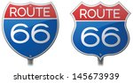 route 66 signs | Shutterstock .eps vector #145673939
