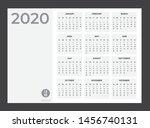 2020 calendar   illustration.... | Shutterstock .eps vector #1456740131