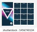 2020 calendar   illustration.... | Shutterstock .eps vector #1456740134