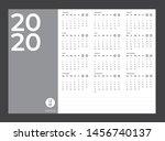 2020 calendar   illustration.... | Shutterstock .eps vector #1456740137
