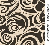 seamless pattern of spirals and ... | Shutterstock .eps vector #1456740281