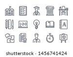 university related line icon...