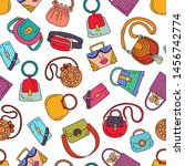 vector seamless pattern with... | Shutterstock .eps vector #1456742774