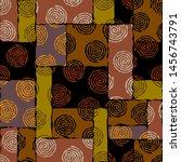 seamless background pattern.... | Shutterstock .eps vector #1456743791