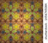 oriental style arabesques on... | Shutterstock .eps vector #1456745084