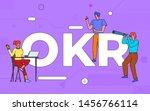illustrations business teamwork ... | Shutterstock .eps vector #1456766114