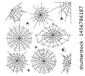 cobweb collection isolated on... | Shutterstock .eps vector #1456786187