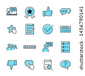 icons set of survey related... | Shutterstock .eps vector #1456790141