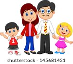 happy family cartoon | Shutterstock . vector #145681421