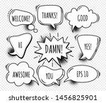a set of comic speech bubbles... | Shutterstock .eps vector #1456825901