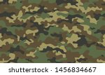 Camouflage seamless pattern. Trendy style camo, repeat print. Vector illustration. Khaki texture, military army green hunting