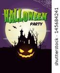 happy halloween poster. set of...   Shutterstock .eps vector #145684241